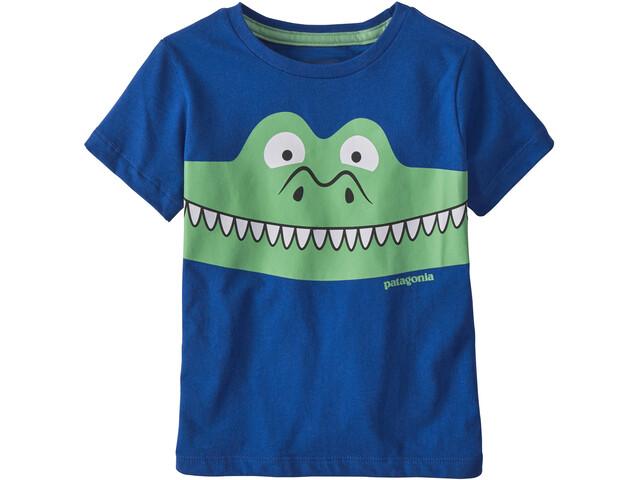 Patagonia Graphic Organic Camiseta Niños, patagator/superior blue